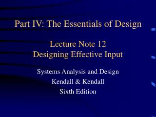 Lecture Note 12 Designing Effective Input