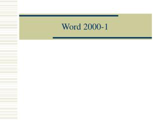 Word 2000-1