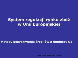 System regulacji rynku zbóż w Unii Europejskiej