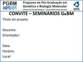 CONVITE – SEMINÁRIOS G & BM