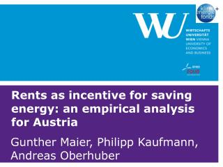 Rents as incentive for saving energy: an empirical analysis for Austria
