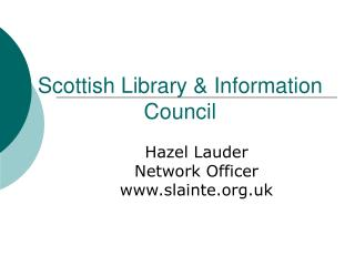 Scottish Library & Information Council