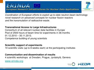 ERINDA Objectives
