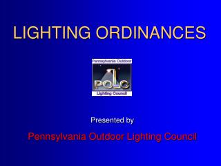 LIGHTING ORDINANCES