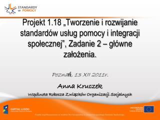 Anna Kruczek Wspólnota Robocza Związków Organizacji Socjalnych