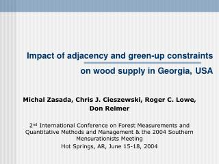 Impact of adjacency and green-up constraints on wood supply in Georgia, USA