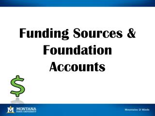 Funding Sources & Foundation Accounts