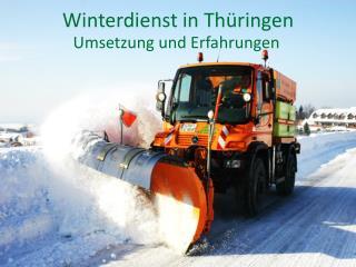 Winterdienst in Thüringen