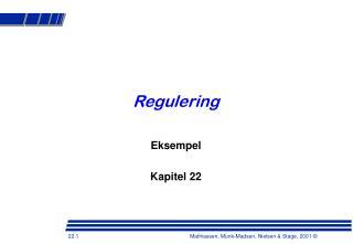 Regulering