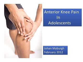 Anterior Knee Pain In Adolescents