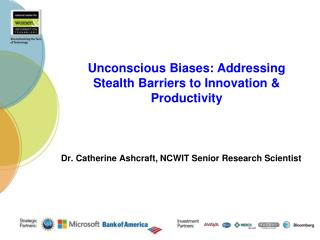 Dr. Catherine Ashcraft, NCWIT Senior Research Scientist