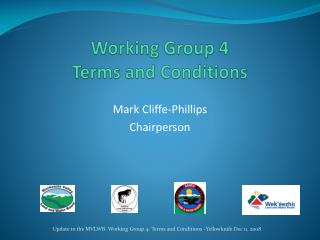 Working Group 4 Terms and Conditions