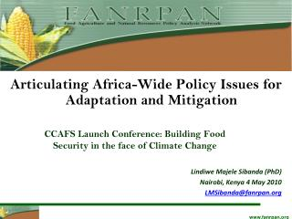 CCAFS Launch Conference: Building Food Security in the face of Climate Change
