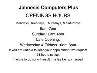Jahnesis Computers Plus