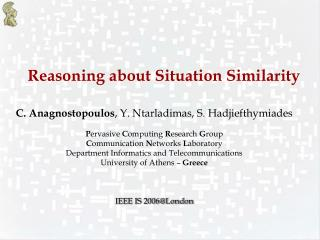 Reasoning about Situation Similarity