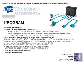 European Network of Excellence on High Performance and Embedded Architecture and Compilation