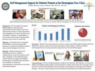 Self Management Support for Diabetic Patients at the Birmingham Free Clinic