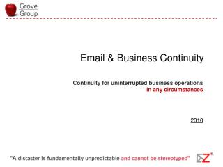 Email & Business Continuity
