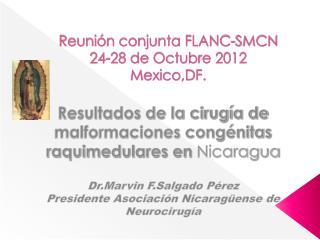 Reunión conjunta FLANC-SMCN 24-28 de Octubre 2012 Mexico,DF.