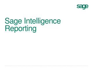 Sage Intelligence Reporting