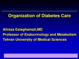 Organization of Diabetes Care