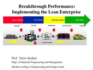 Breakthrough Performance: Implementing the Lean Enterprise