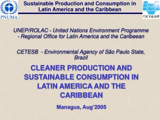 CLEANER PRODUCTION AND SUSTAINABLE CONSUMPTION IN LATIN AMERICA AND THE CARIBBEAN