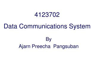 4123702 Data Communications System