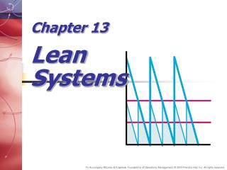 Chapter 13 Lean Systems