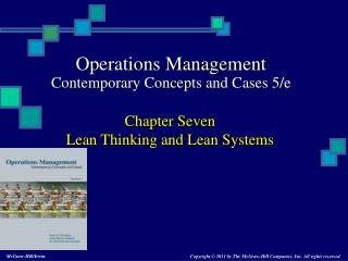 Chapter Seven Lean Thinking and Lean Systems