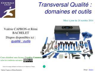 Transversal Qualité : domaines et outils