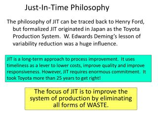 Just-In-Time Philosophy