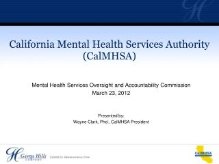California Mental Health Services Authority (CalMHSA)