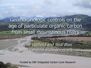 Geomorphologic controls on the age of particulate organic carbon from small mountainous rivers