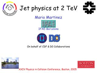 Jet physics at 2 TeV