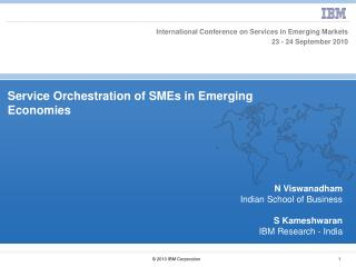 Service Orchestration of SMEs in Emerging Economies
