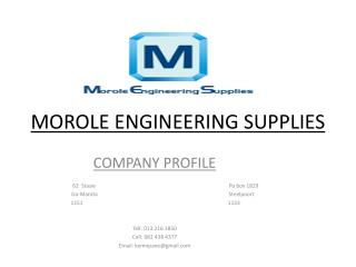 MOROLE ENGINEERING SUPPLIES