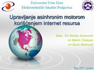 Upravljanje asinhronim motorom korišćenjem internet resursa