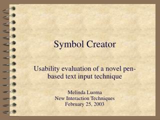 Symbol Creator