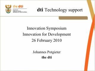 dti  Technology support