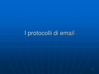 I protocolli di email
