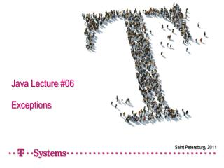 Java Lecture #06 Exceptions