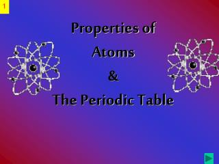 Properties of Atoms   The Periodic Table