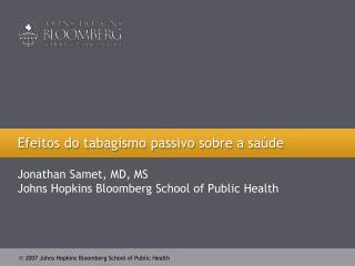 Efeitos do tabagismo passivo sobre a saúde
