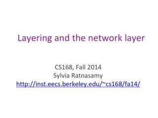 Layering and the network layer