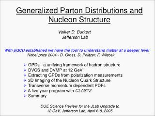 Generalized Parton Distributions and Nucleon Structure