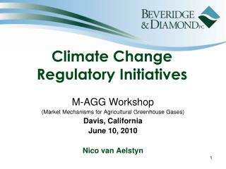 Climate Change Regulatory Initiatives