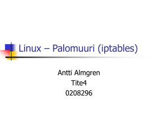 Linux – Palomuuri (iptables)