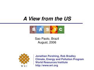 A View from the US Sao Paolo, Brazil August, 2006