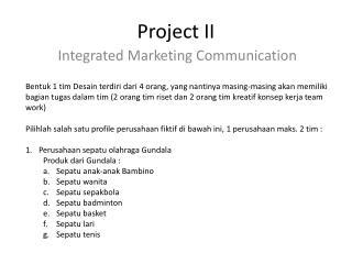 Project II